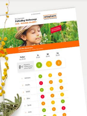Die aktuelle Pollenvorhersage zum Ausdrucken